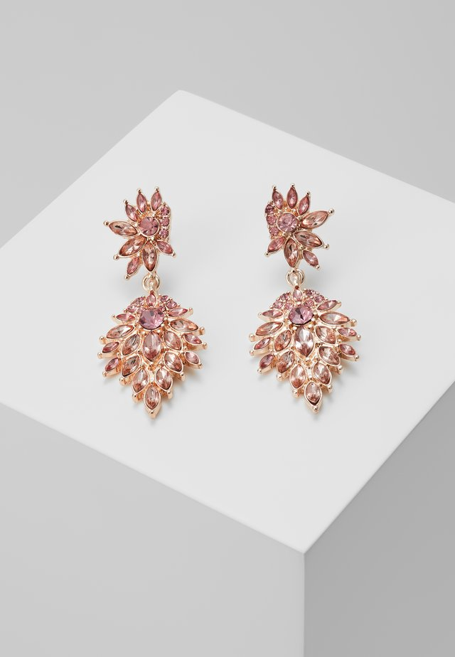 ONLCINDYLINDY EARRINGS - Orecchini - gold-coloured/rose