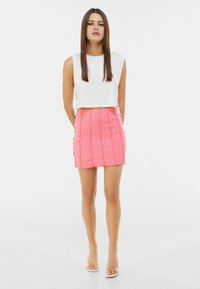 Bershka - A-line skirt - pink - 1