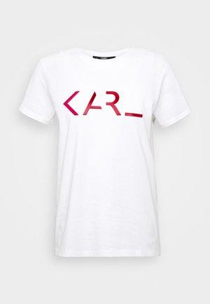 LEGEND LOGO - Print T-shirt - white