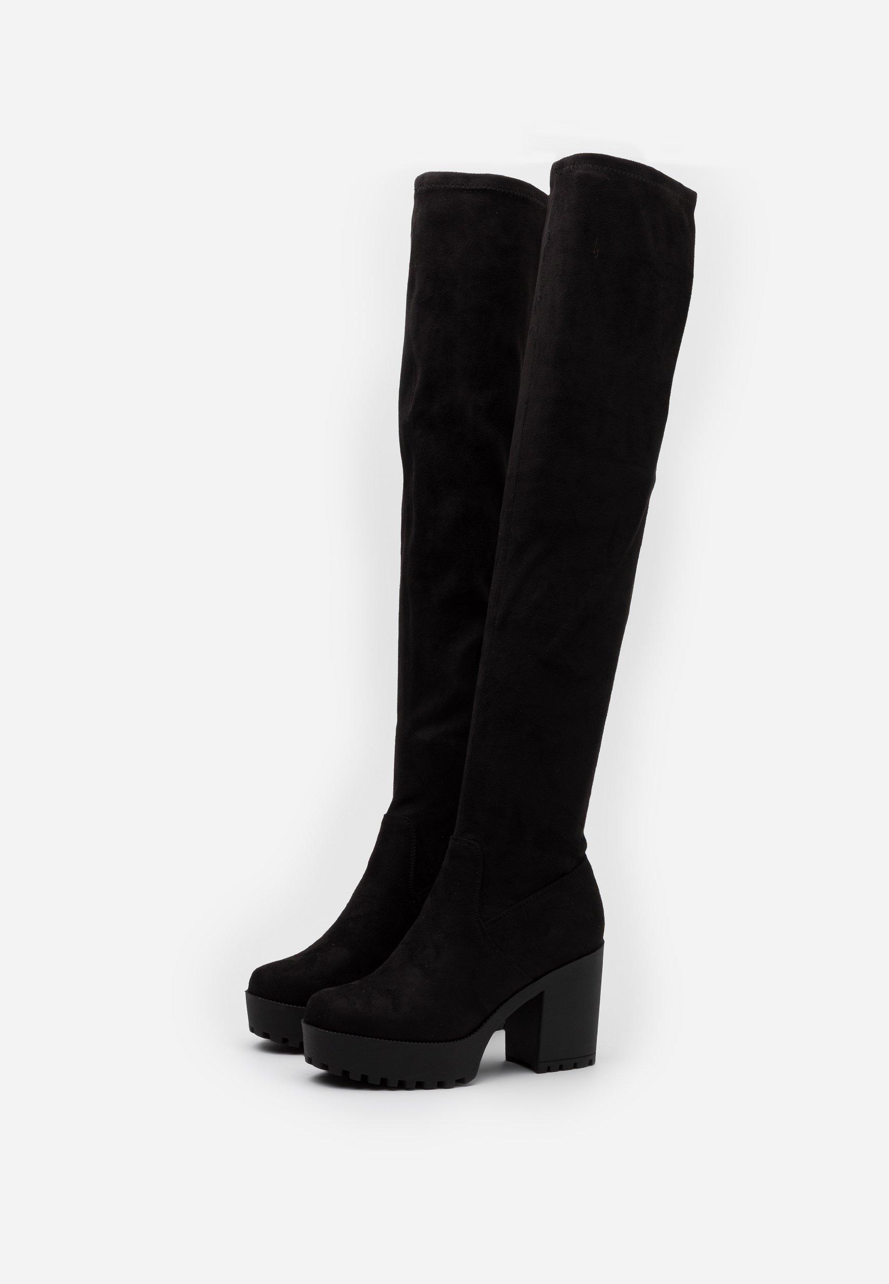 Even&Odd Wide Fit High Heel Stiefel black/schwarz