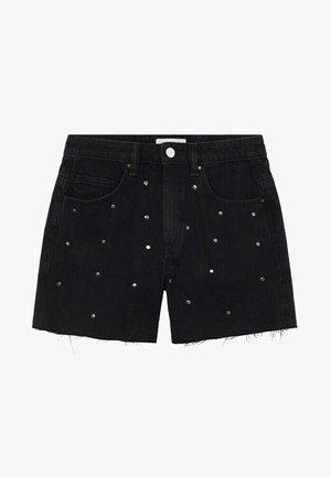 CARLI - Denim shorts - black denim