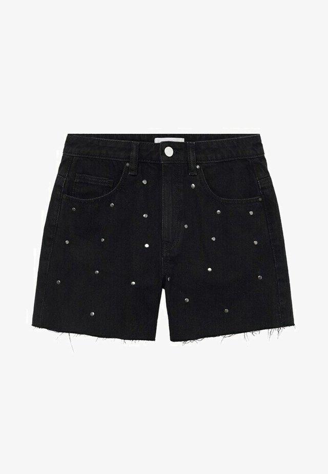 CARLI - Short en jean - black denim