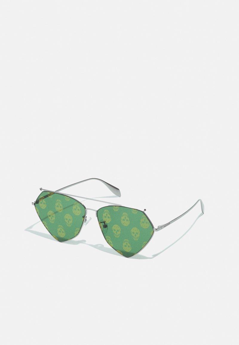Alexander McQueen - UNISEX - Zonnebril - ruthenium/green