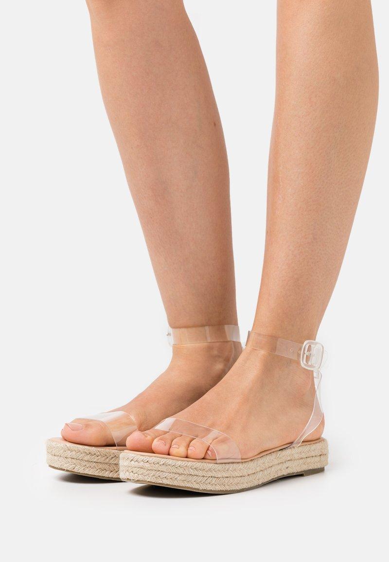 BEBO - SLAVA - Platform sandals - clear