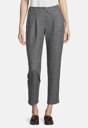MIT BUNDFALTEN - Trousers - black/grey