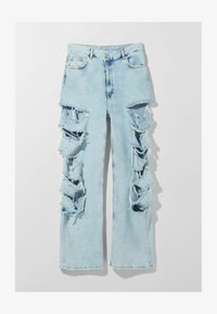 Bershka - MIT RISSEN  - Jeansy Relaxed Fit - light blue - 4