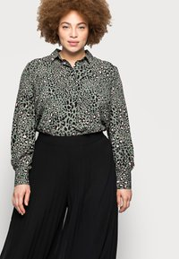 New Look Curves - WIDE LEG - Trousers - black - 3