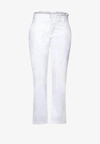 LOOSE FIT N HIGH WAIST - Trousers - weiß