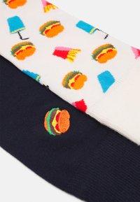 Happy Socks - BURGER SOCK BURGER SOCK UNISEX 2 PACK - Socks - multi-coloured - 1