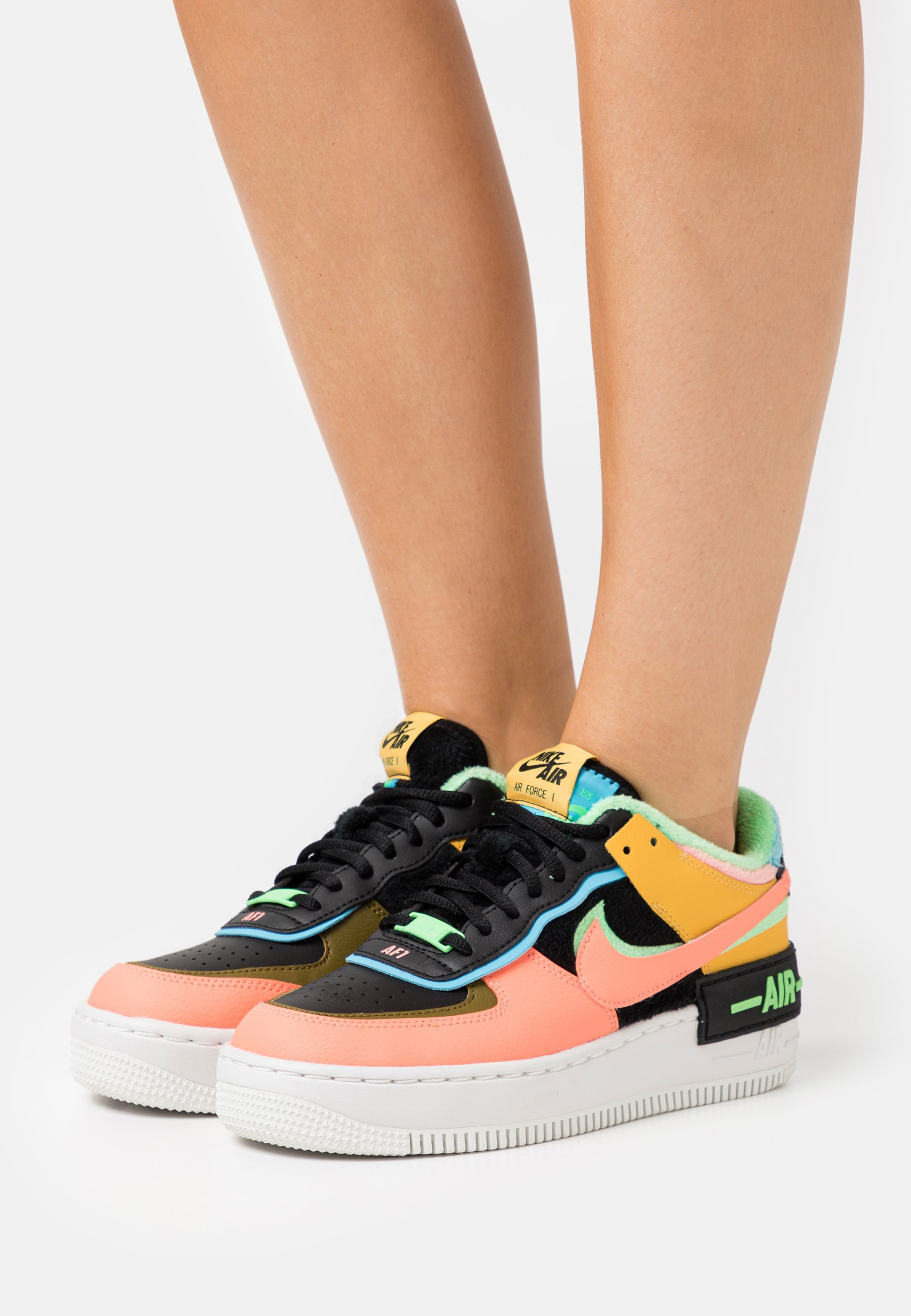 Nike Sportswear Air Force 1 Shadow Trainers Solar Flare Atomic Pink Baltic Blue Black Illusion Green Olive Flak Black Zalando Co Uk Nike women's air force 1 shadow casual shoes. air force 1 shadow trainers solar flare atomic pink baltic blue black illusion green olive flak