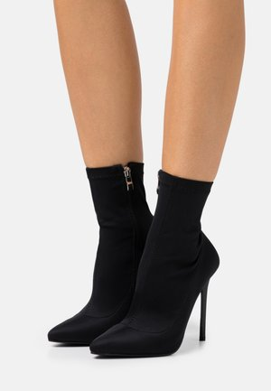 ZABEL - High heeled ankle boots - black