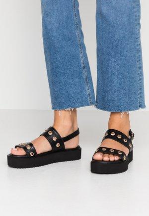URARANDRA - Sandály na platformě - black