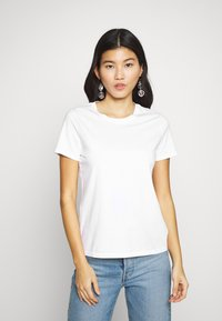 Banana Republic - NEW SUPIMA CREW - Basic T-shirt - white - 0