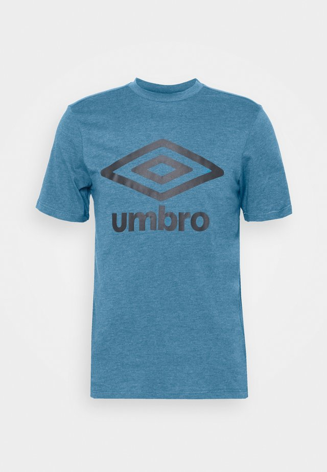 LARGE LOGO TEE - T-shirt imprimé - blue sapphire marl