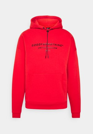 OVERSIZED INJECTION MOULD BRANDED HOOD UNISEX - Hoodie - red