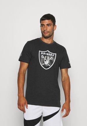 NFL LAS VEGAS RAIDERS OUTLINE LOGO TEE - Club wear - grey/white