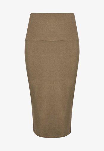 Pencil skirt - moss khaki