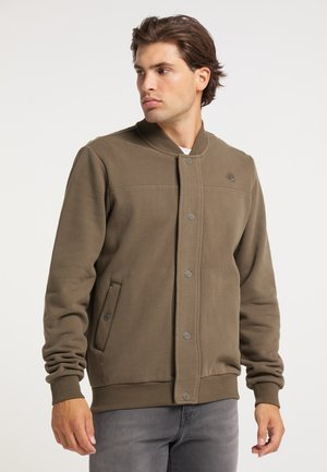 Zip-up hoodie - militär oliv