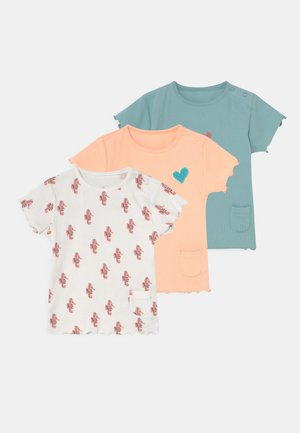BABY FRILL TEE 3 PACK - T-shirt print - ivory