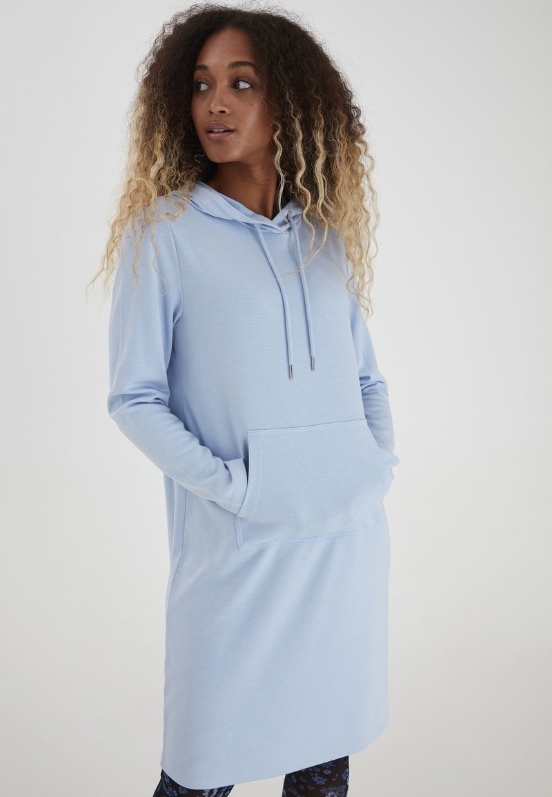 b.young - Jersey dress - brunnera blue melange
