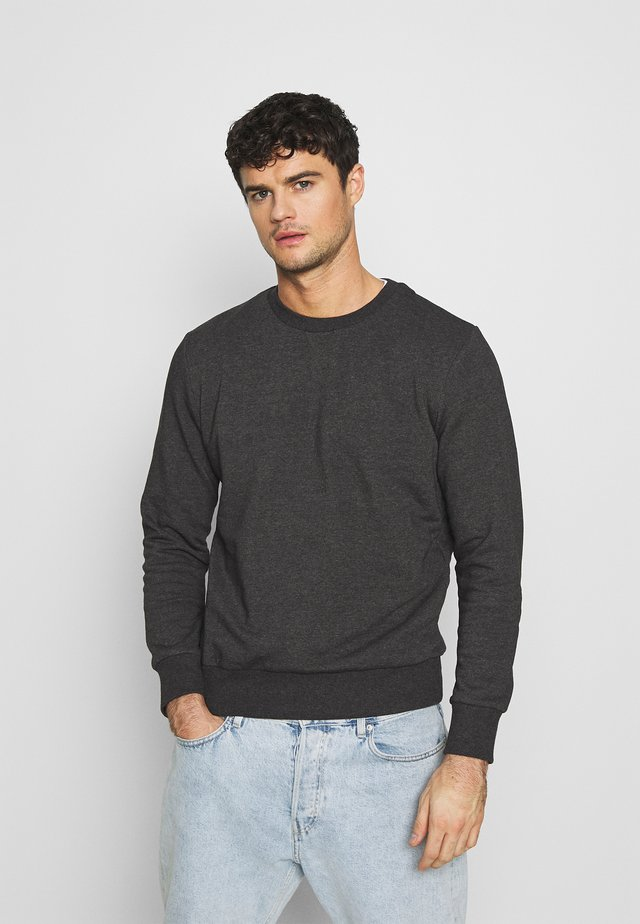 JONES - Collegepaita - charcoal marl/jet black