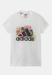 adidas Performance - UNISEX - Print T-shirt - white/black - 0