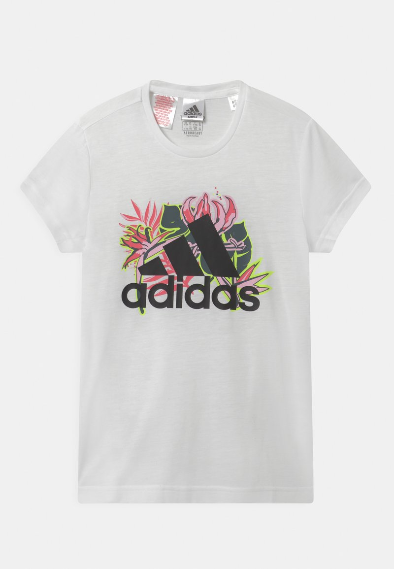 adidas Performance - UNISEX - Print T-shirt - white/black