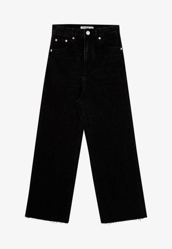 CULOTTE - Široké džíny - black