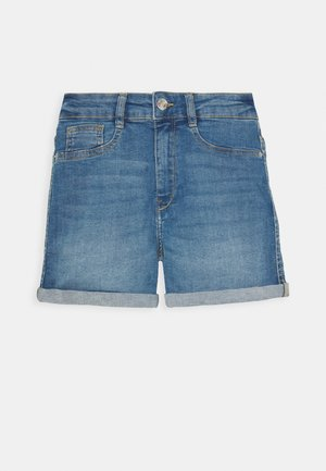 Denim shorts - mid blue