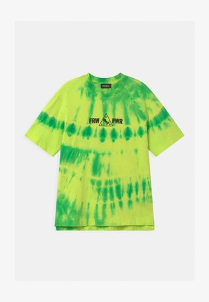 OVER UNISEX - T-Shirt print - lime fluo