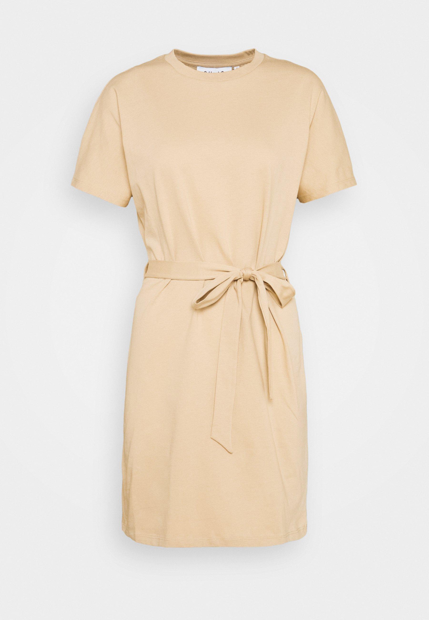 Women CAP SLEEVE MINI DRESS - Jersey dress