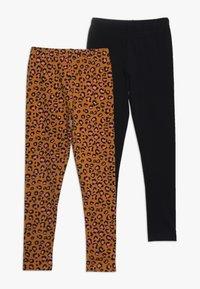 Friboo - 2 PACK - Leggings - Trousers - sudan brown/anthracite - 0