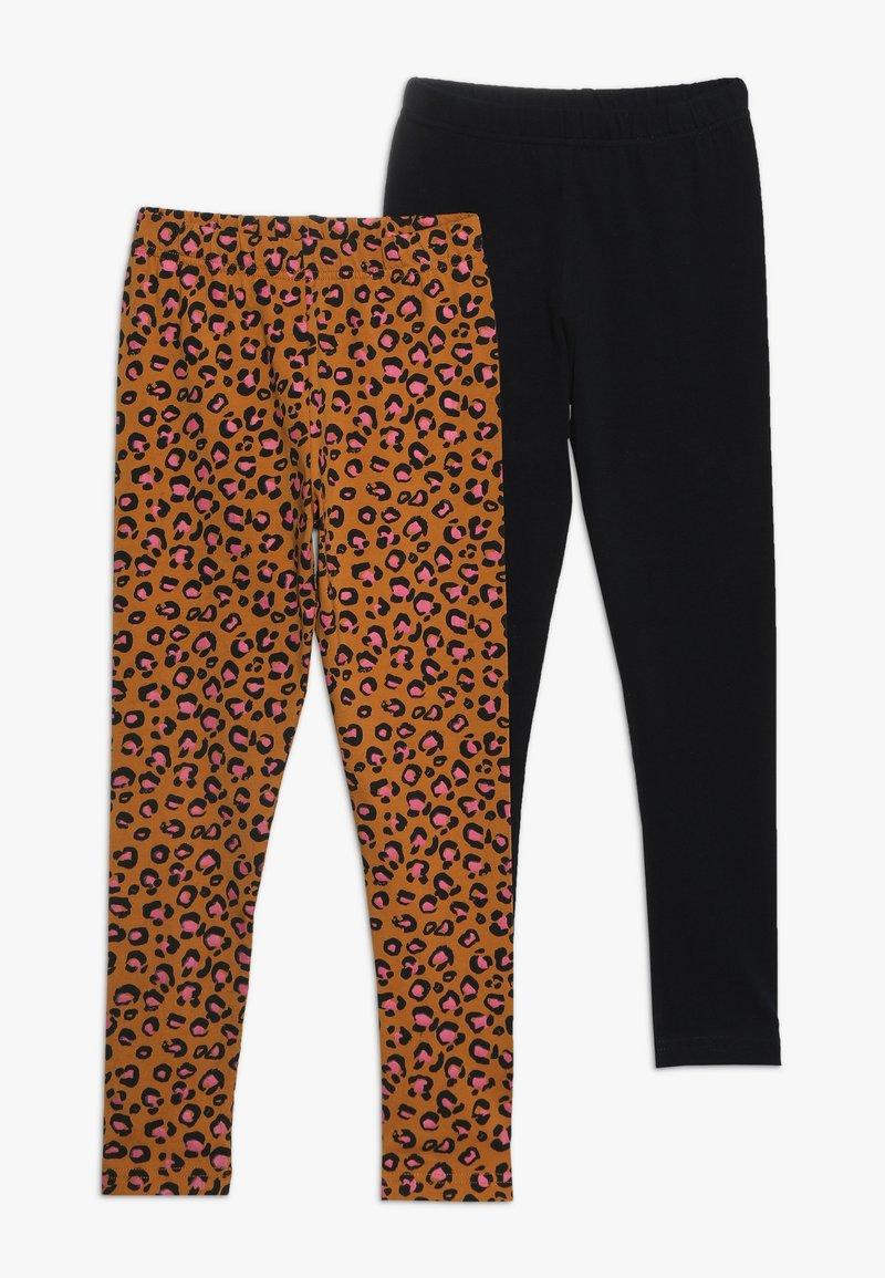 Friboo - 2 PACK - Leggings - Trousers - sudan brown/anthracite