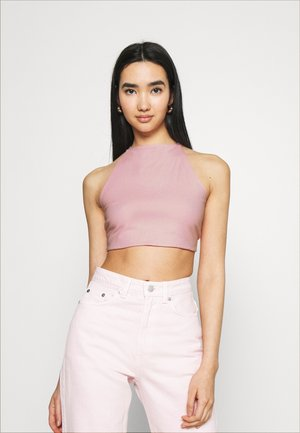 OPEN BACK WRAP HALTER - Top - light pink