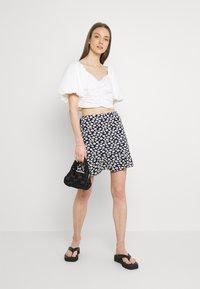 EDITED - AURORA SKIRT - Mini skirt - dark blue/white - 1