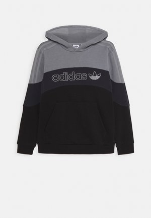 HOODIE - Bluza z kapturem - grey/grey/black
