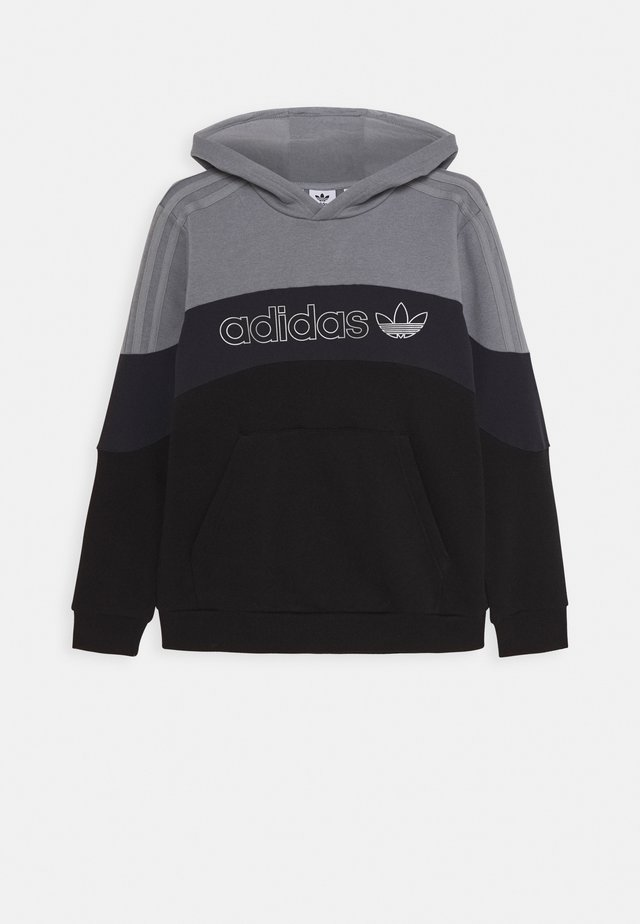 HOODIE - Jersey con capucha - grey/grey/black