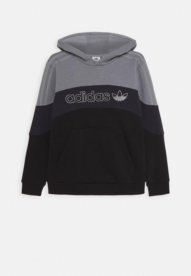 adidas Originals - HOODIE - Hoodie - grey/grey/black
