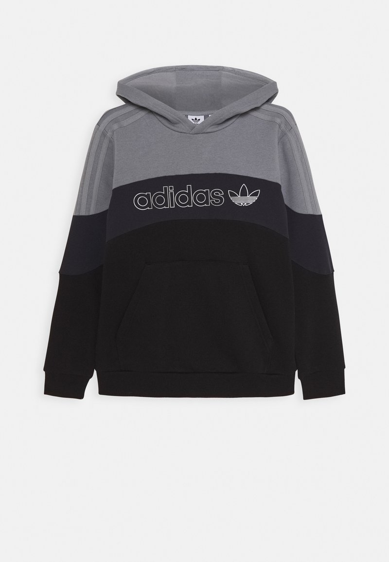 adidas Originals - HOODIE - Sweat à capuche - grey/grey/black