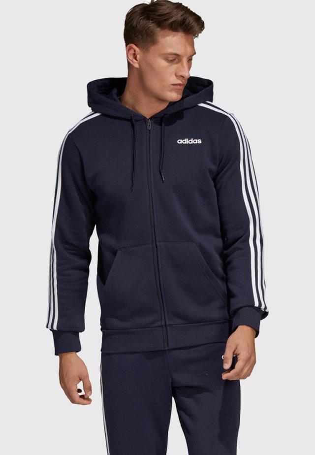 ESSENTIALS 3 -STREIFEN - Zip-up hoodie - dark blue