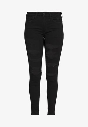 HI RISE - Jeans Skinny Fit - rocker black