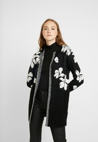 ONLY - ONLEUNICE CARDIGAN - Cardigan - black/cloud dancer - 0