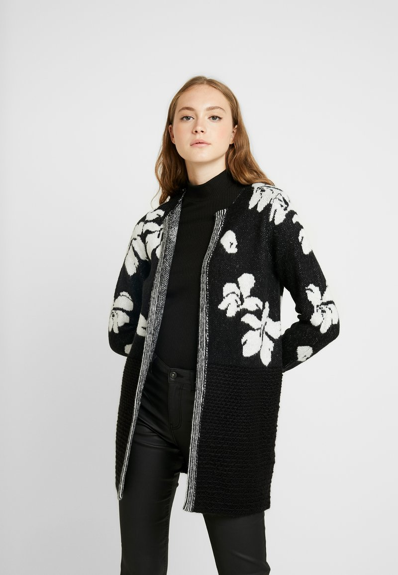 ONLY - ONLEUNICE CARDIGAN - Cardigan - black/cloud dancer