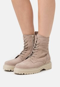 Zign - Lace-up ankle boots - beige - 0
