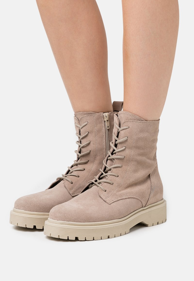 Zign - Lace-up ankle boots - beige