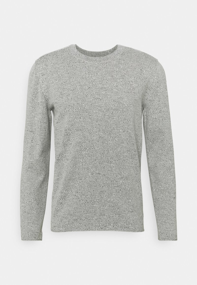 Marc O'Polo DENIM - LONG SLEEVE CREW NECK STRUCTURE CHANGE ON THE BACK - Strickpullover - multi/egg white