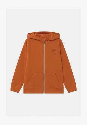LOTUS OWL HOOD - Zip-up hoodie - orange