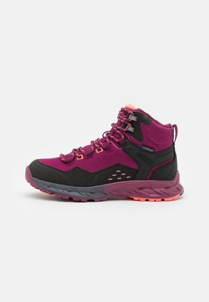 VERVE MID WP WOMENS - Vaelluskengät - violet/watermelon red/black