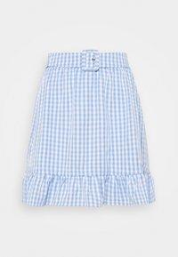 Vila - VIGRIMDA BELT SKIRT - Mini skirt - blue/white - 0