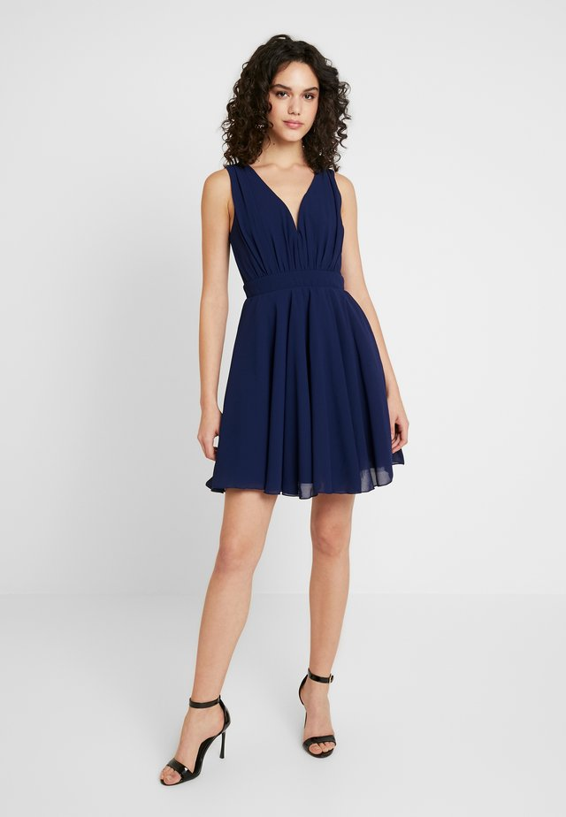 VIVIAN MINI SKATER DRESS - Cocktail dress / Party dress - navy